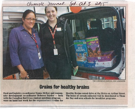 'Grains for Healthy Brains' Cereal Drive Collects 1031 Boxes of Cereal